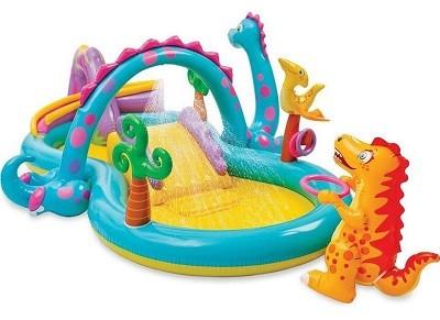 Акция! Насос в подарок! Детский надувной игровой центр Intex 57135 «Планета динозавров»  (333 см х 229 см х 112 см)