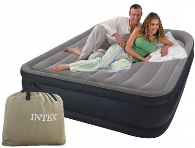 Новое поступление двухспальных надувных кроватей INTEX DELUXE 64136