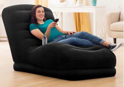 Новинка 2020! Надувное велюровое кресло-шезлонг Intex для незабываемого отдыха