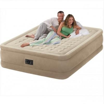 Двухспальная надувная кровать Ultra Plush Bed Intex 66958 (152см х 203см х 46см)