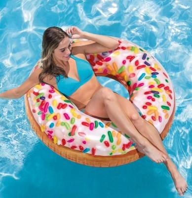 Надувной круг Intex 56263 «Пончик с присыпкой» (диаметр 114 см)