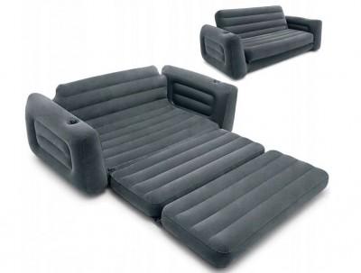 Надувная кровать-трансформер Intex 68566 (203см x 224см x 66см)