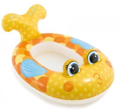 Надувной детский плотик Intex 59380 «Рыбка» (119 см х 76 см)