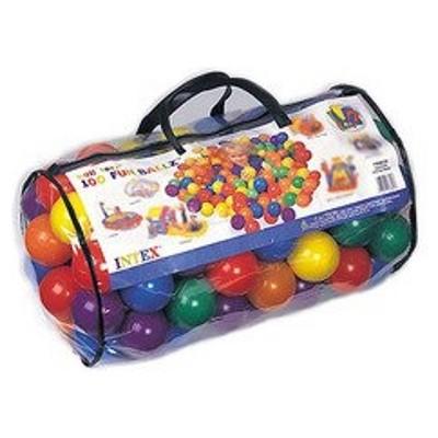 Набор цветных пластиковых мячей Intex 49602 (6 см диаметр) - 100 штук