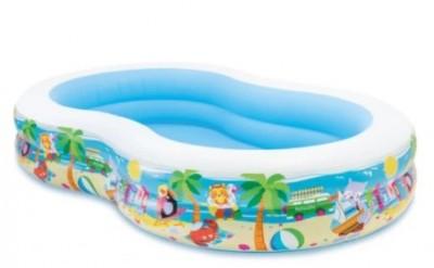 Детский надувной бассейн  Intex 56490 (262 см х 160 см х 46 см)