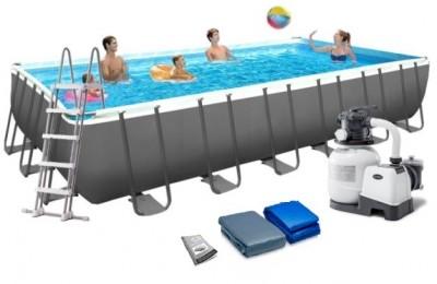 Каркасный бассейн Intex 28358 ULTRA FRAME POOL (732 см х 366 см х 132 см) + аксессуары