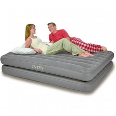 Двухспальная надувная кровать 2 in 1 Intex - 67744 (152см x 203см x 46см)