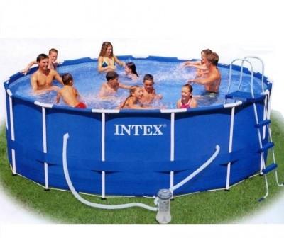 Акция! Распродажа! Каркасный бассейн Metal Frame Pool Intex 56946 (457 см х 122 см) + аксессуары