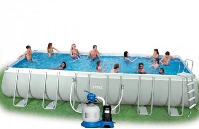 Каркасный бассейн Intex 54480 ULTRA FRAME POOL (975 см х 488 см х 132 см) + аксессуары