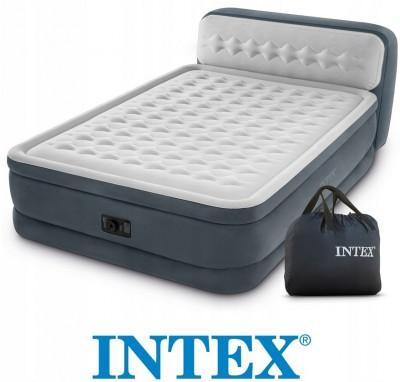 Велюровая кровать Intex Ultra Plush Headboard – комфортный сон обеспечен