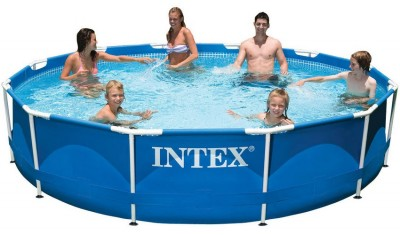 Каркасный бассейн Metal Frame Pool Intex 56994 (366 см х 76 см)