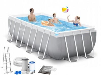 Акция! 6 Фильтров за 625грн на 2 сезона в подарок! Каркасный бассейн Intex Prism Frame Pool 26970 (400 см х 200 см х 122 см)