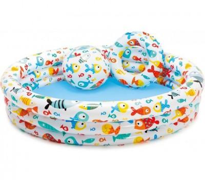 Детский бассейн 3 в 1 Intex 59469 (132 см х 28 см)
