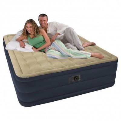 Двухспальная надувная кровать Intex 67710  (152см x 203см x 47см)