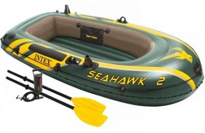 Акция – двухместная надувная лодка INTEX по цене распродажи