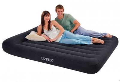 Двухспальный надувной матрас  суперкласса INTEX 66769 с подголовником (152см х 203см х 30см)