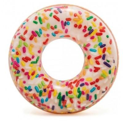 Надувной круг «Пончик с присыпкой» Intex 56263  (диаметр 114 см)