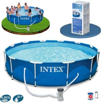 Новое поступление каркасных бассейнов METAL FRAME POOL INTEX 56996 –любимая модель уже в наличии
