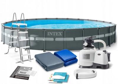 Акция! Автоматический пылесос за 3500 грн в подарок! Каркасный бассейн Intex 28672 Prism Frame Pool (732 см х 132 см)