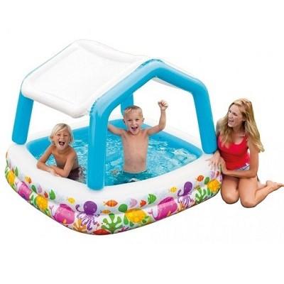 Детский надувной бассейн с тентом – идеальный выбор для жаркого летнего дня