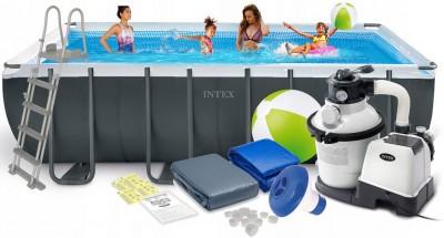 Большой прямоугольный каркасный бассейн INTEX 549 см х 274 см х 132 см – лучший выбор для веселой компании