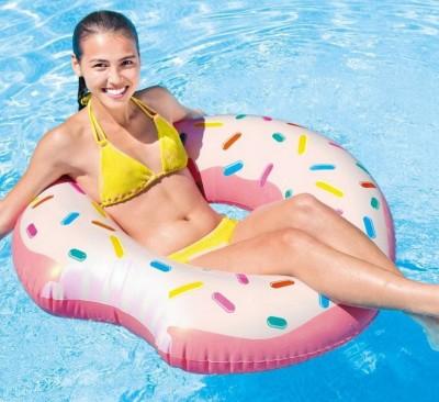 Надувной круг Intex 56265 «Пончик» (диаметр 107 см)