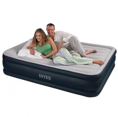Двухспальная надувная кровать Intex Deluxe 64136 (152см х 203см х 47см)