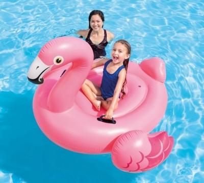 Надувной плотик Intex 57558 «Розовый Фламинго» (142 см х 137 см х 97 см)