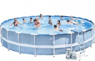 Акция! Каркасный бассейн Intex 28672 Prism Frame Pool (732 см х 132 см)