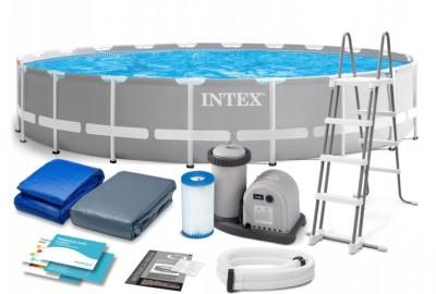 Каркасный бассейн Intex 26576 Metal Frame Pool (610 см х 132 см)