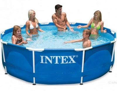 Акция! Тент в подарок за 395 грн ! Каркасный бассейн Metal Frame Pool Intex 28220 (305 см х 76 см)