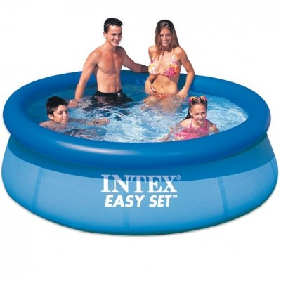 Акция! Насос в подарок! Надувной бассейн Intex Easy Set Pool 56970, 244 см х 76 см