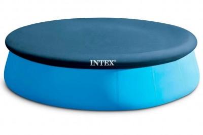 Тент Intex 28025 для круглого надувного бассейна. Диаметр: 396 см