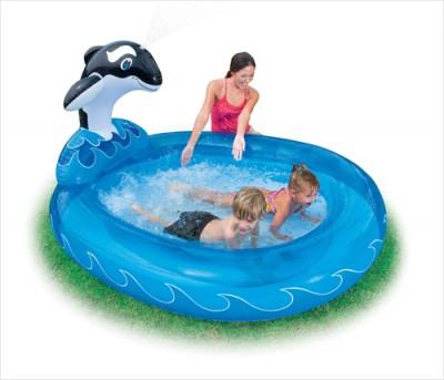 Детский бассейн с фонтаном intex 57436 (203 см х 157 см х 107 см)