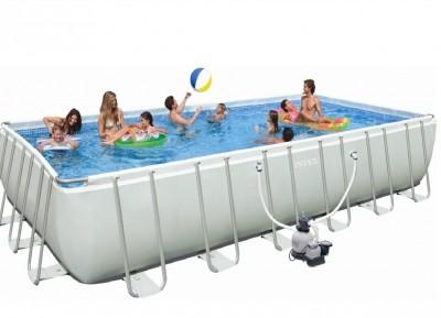 Каркасный бассейн Intex 28362 ULTRA FRAME POOL (732 см х 366 см х 132 см) + аксессуары