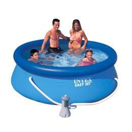 Надувной бассейн Easy Set Pool  Intex 56972, 244 см х 76 см + фильтр насос + катридж