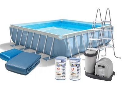 Каркасный бассейн Intex Prism Frame Pool 28776 (488 см х 488 см х 122 см)