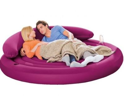 Надувной диван-кровать Intex 68881 (191 см х 191 см х 53 см)