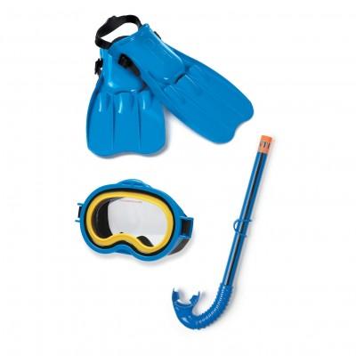 Детский набор для плаванья(маска, трубка, ласты) Intex 55952 (3-10лет)