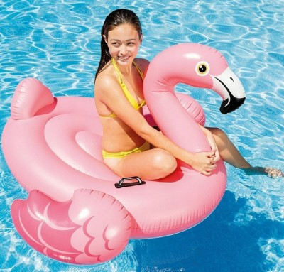 Надувной плотик Intex 57558 «Фламинго» (142 см х 137 см х 97 см)