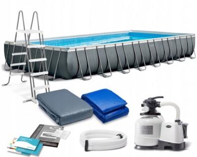 Каркасный бассейн Intex 54485 ULTRA FRAME POOL (975 см х 488 см х 132 см) + аксессуары