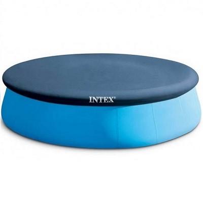 Тент Intex 28025 для круглого надувного бассейна. Диаметр:396 см