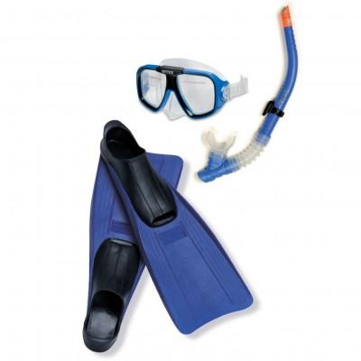 Набор для плаванья (маска, трубка, ласты) Intex 55957 от 8лет