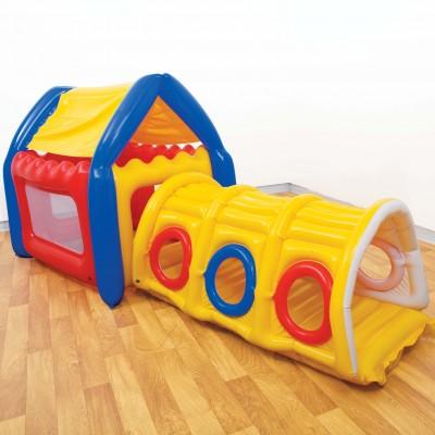 Надувной игровой центр Дом с тоннелем Intex 48643 (132х97х114 см).