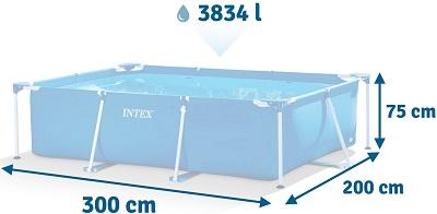 Прямоугольный бассейн Интекс