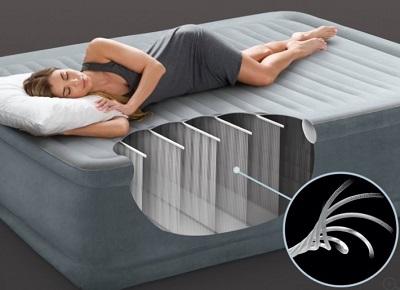Структура надувной кровати и матраса